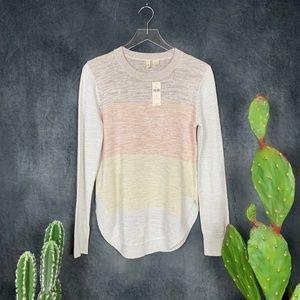 NEW Moth Anthropologie Yellow, Peach, Tan Sweater